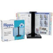 Arnos Flippa Desktop Display System Kit 10 Panels A4 Black