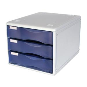 Metro 3 Drawer Desk Storage Unit B4 Grape/Grey
