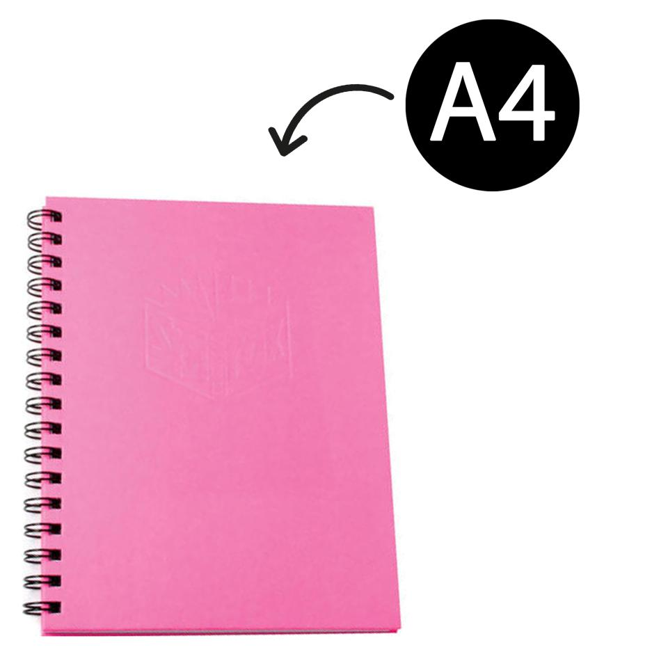 Spirax 512 Notebook Hard Cover A4 200 Pages Notebook Pink