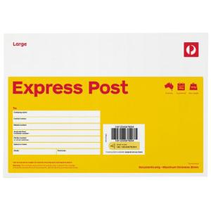 Envelope Express Post B4 353x250mm Australia Post Pk/10