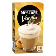 Nescafe Cafe Menu Vanilla Coffee Sticks 18.5g Box of 10
