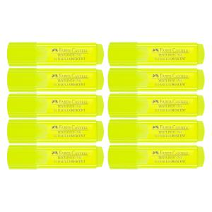 Faber Castell Textliner Ice Highlighter Yellow Box 10