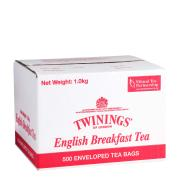 Twinings English Breakfast Enveloped Tea Bags Carton 500