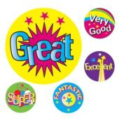 Avery Merit and Reward Stickers Multiple Captions 22 mm diameter Pack 200