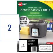 Avery Ultraresistant Label White L7916 2up 210x148mm Pkt 10