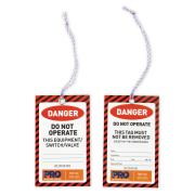 Prochoice Danger Safety Tags 125mm X 75mm Pkt100