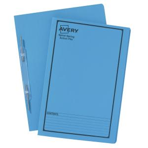 Avery Blue Spiral Spring Action File with Black Print - Foolscap - 355 x 241 mm