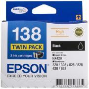 Epson 138 Black Ink Cartridge - C13T138194 - 2-Pack
