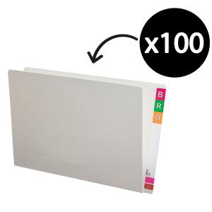 Avery Lateral Shelf File 367 x 242mm 35mm Expansion Foolscap White Pack 100