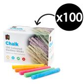 Educational Colours Dustless Chalk Colours Box 100