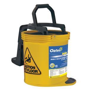 Oates Duraclean Mark II Plastic Wringer Bucket Yellow