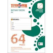 Teter Mek A4 Botany Book 18mm Ruled Interleaved 56GSM 64 Pages