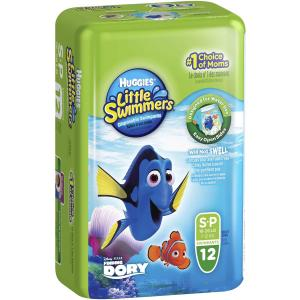 Huggies Little Swimmers Nappy Pants Small 7-12kg Pack 12 Carton Of 3