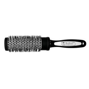 Hair Brush Anti Slip 100 Nylon Bristle Ceramic 3.4 Diameter