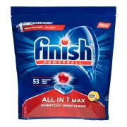 Finish Powerball All In 1 Max Dishwasher Tablets Lemon Sparkle Pack 53