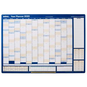 Winc 2020 Doublesided Recycled Year Wall Planner