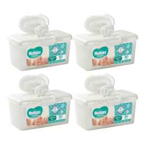 Huggies Baby Wipes Fragrance Free Tubs 80 Sheets Carton 4