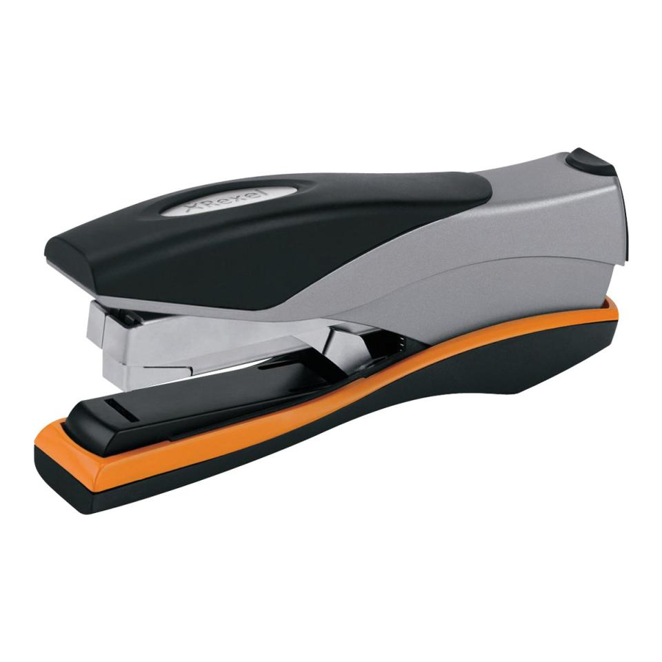 Rexel Optima 40 Low Force Full Strip Stapler Black Grey Orange