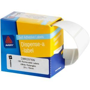Avery White Rectangular Dispenser Labels - 76 x 29mm - 180 Labels - Hand writable