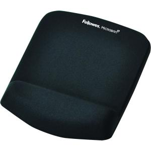 Fellowes PlushTouch Mouse Pad with Wrist Rest Black