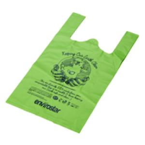 Envirostar Small Singlet Bag Green Compostable 35um Printed Pack 100 Carton 10 Image