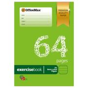 Officemax Premium Exercise Book A4 8mm Ruled 70gsm Red Margin 64 Pages