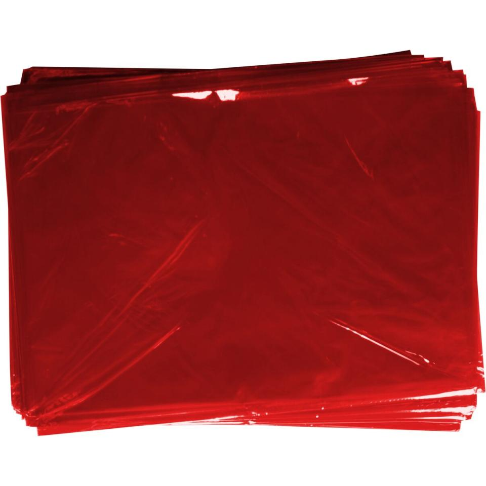 Rainbow Cellophane 750mm X 1m 25 Sheets Red