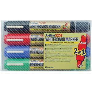 Artline Whiteboard Marker Bi Nib Assorted Wallet 4