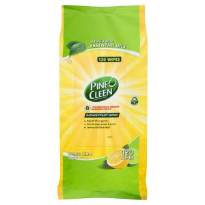 Pine O Cleen Surface Wipes Lemon Lime Pack 120