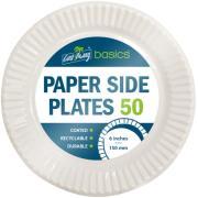 Castaway Basics Coated Paper Plates White 6'' / 150mm Ctn/1000