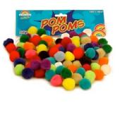 Pom Poms Assorted 20mm Bag 100