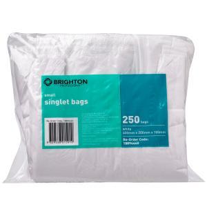 Brighton Professional Singlet Bags HDPE 10um 400X200X100mm Pack 250