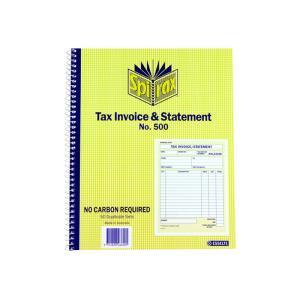 Spirax No.500 Tax Invoice & Statement Book 250X200mm
