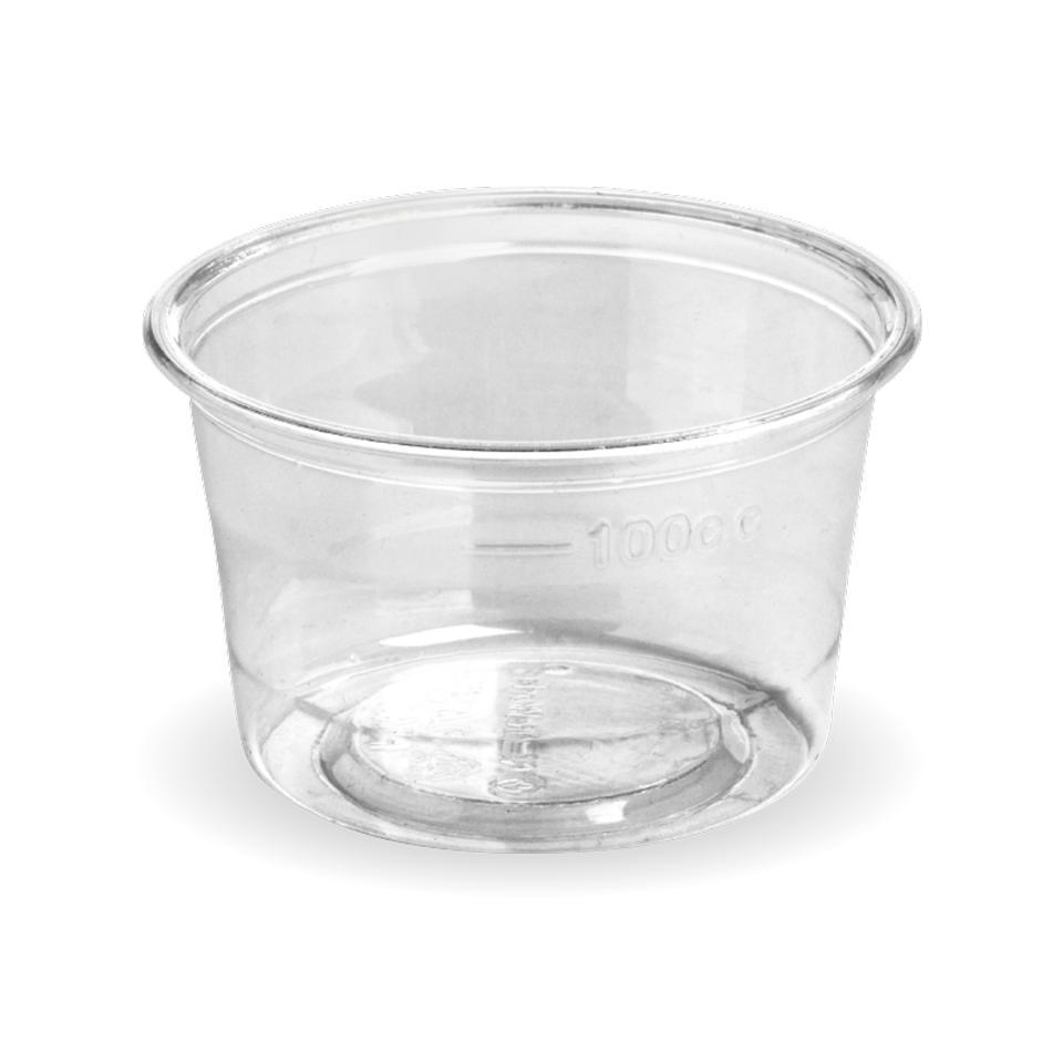 Biopak Sauce Cup 140ml Clear Carton 1000