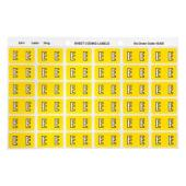 Avery E Side Tab Colour Coding Labels for Lateral Filing - 25 x 38mm - Yellow - 180 Labels