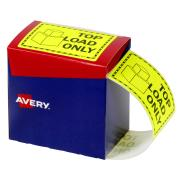 Avery Top Load Only Labels - 75 x 99.6mm - Fluoro Yellow - 750 Labels