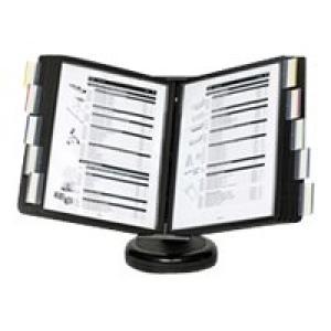 Arnos Swinga Desktop Display System 10 Panels A4 Black Image