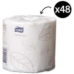 Tork 234 Soft Conventional Toilet Roll 2Ply White 400 Sheets/Roll Carton 48