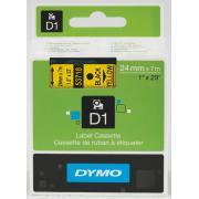 Dymo D1 Label Printer Tape 24mm x 7m - Black On Yellow
