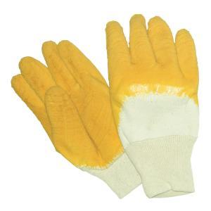 Safechoice Gloves Cotton Knit Glass Gripper Brickies Yellow Pair 12 Pack