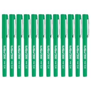 Artline 200 Marker Fineline 0.4mm Green Box 12