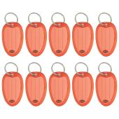 Marbig Key Tags Red Pack 10