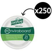 Castaway Enviroboard Dinner Plate Round 9In 230X230X20mm White Carton 250