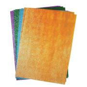 Rainbow Glitter Paper A4 Assorted Colours Pack 50