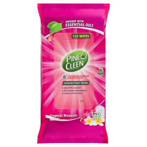 Pine O Cleen 3072507 Disinfectant Surface Wipes Tropical Blossom Pack of 120