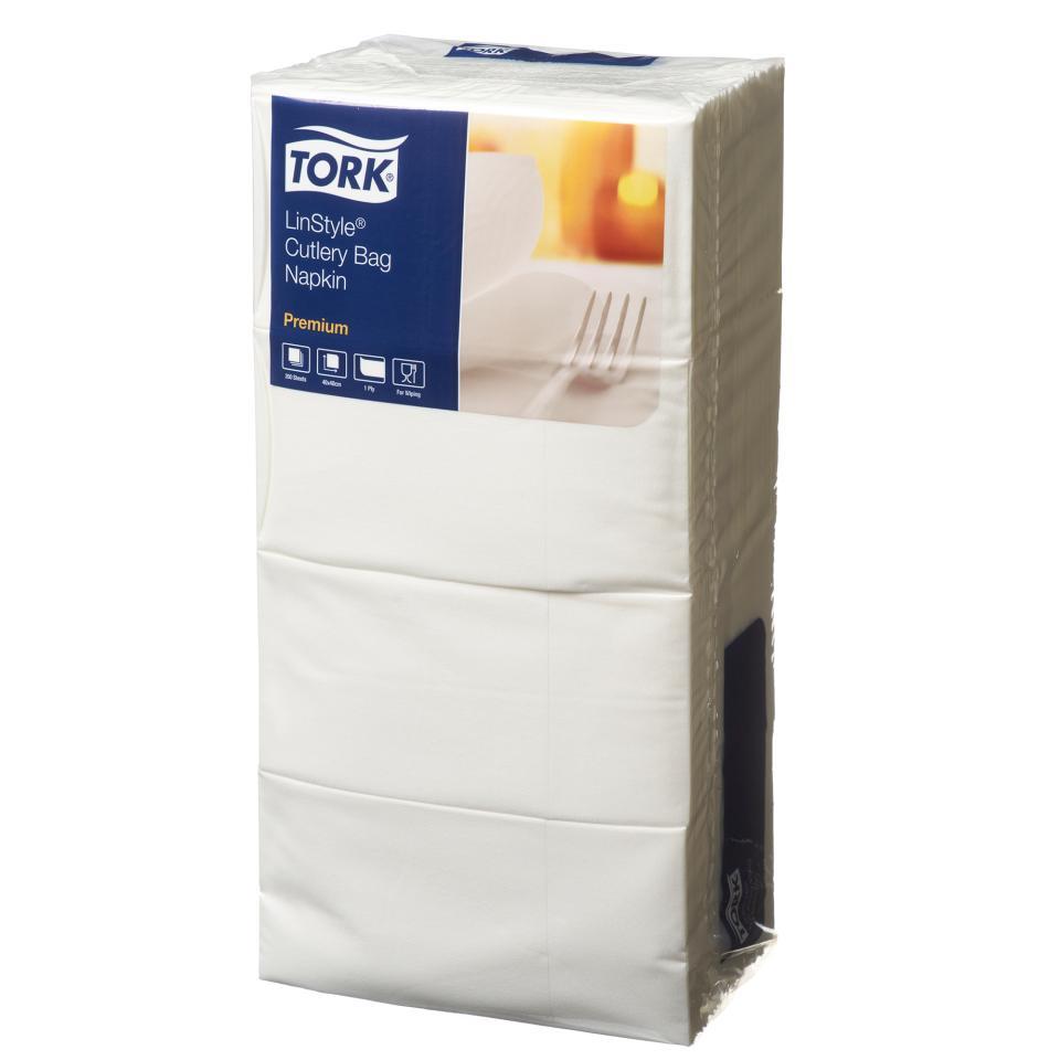 Tork Textile Feel Cutlery Pocket Napkin White Carton 400
