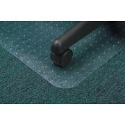 Marbig Chairmat Economat PVC Key Hole Style Low Pile Carpet 1340l x 1140wmm Matt