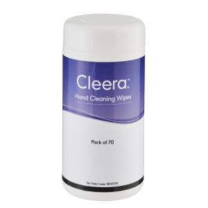 Cleera Hand Cleaning Wipes - 70-Pack