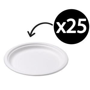 Castaway Enviroboard Round Dinner Plate 260X260X25mm White Pack 25