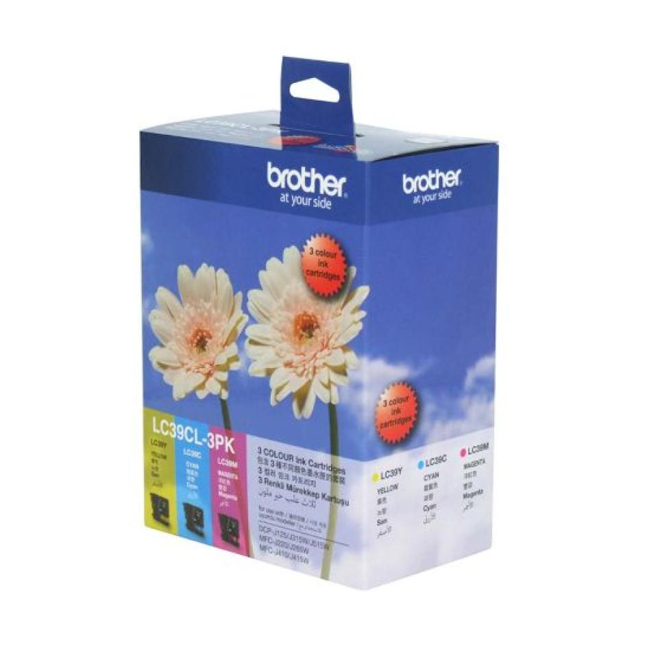 Brother LC39CL-3PK 3 Colour Ink Cartridges - 3-Pack
